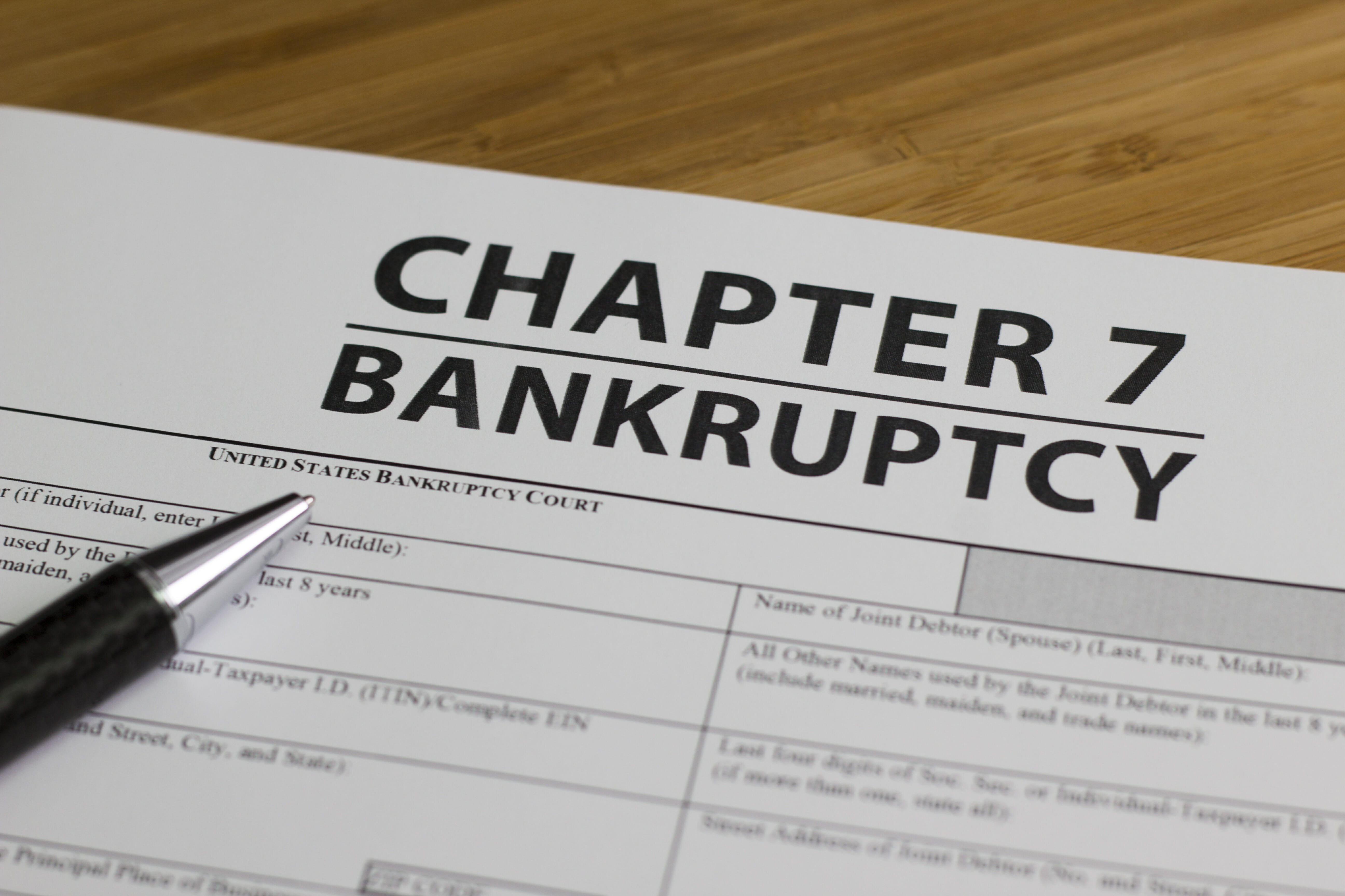 Chapter Bankruptcy 7 Lawyer